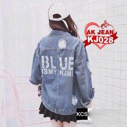 Áo khoác jean nữ Blue giá sỉ