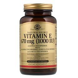 Viên uống Vitamin E Solgar Naturally Sourced Vitamin E 670 mcg 1000 IU - 100 viên