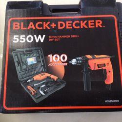MÁY KHOAN ĐỘNG LỰC BLACK DECKER HD555KMPR-B1 giá sỉ, giá bán buôn