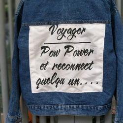 Áo khoác jean nữ phom to 60kg giá sỉ