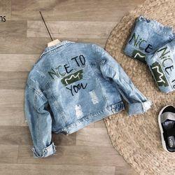 Áo khoác jean nữ phom to 60kg giá sỉ, giá bán buôn