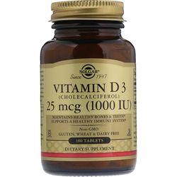 Viên uống bổ xương khớp Solgar Vitamin D3 Cholecalciferol 1000 IU - 180 viên