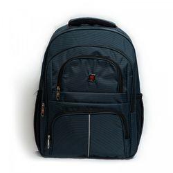 Ba lô sinh viên màu xanh đính logo R thời trang cao cấp BALOSUMO0016