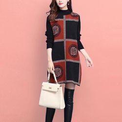Đầm len dáng dài cổ cao giá sỉ