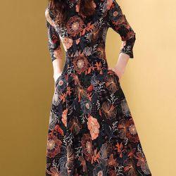 Đầm thun cao cấp cổ cao giá sỉ, giá bán buôn