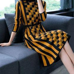 Đầm len họa tiết xinh cao cấp