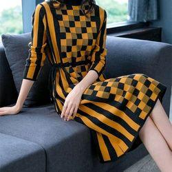 Đầm len họa tiết xinh cao cấp giá sỉ, giá bán buôn