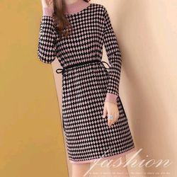 Đầm len caro xinh xắn giá sỉ, giá bán buôn