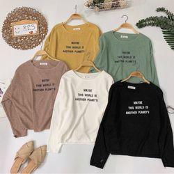 Áo len basic in chữ Form đơn giản màu trơn dễ mặc giá sỉ