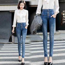 Quần jean nữ cao cấp thiết kế lưng cao tôn dáng NP11