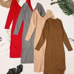 Đầm len body Form ôm body co giãn thoải mái giá sỉ