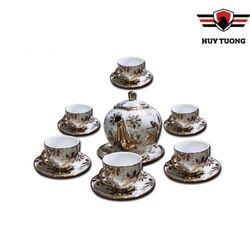 Bộ ấm chén pha trà làm quà tặng cao cấp trang nhã - Huy Tưởng giá sỉ