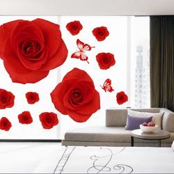 Decal dán tường hoa hồng - AY888 giá sỉ