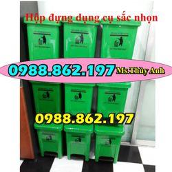 thùng rác y tế màu đen 20L thùng rác y tế màu trắng thùng rác y tế màu vàng sản xuất thùng rác y tế 20L giá sỉ