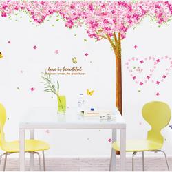 Decal dán tường cây hồng - AM9003 giá sỉ
