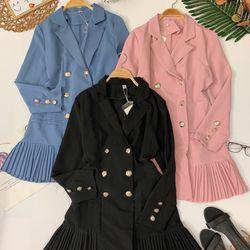 Đầm vest đắp viền xếp li giá sỉ