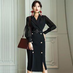Đầm vest cao cấp dáng dài giá sỉ