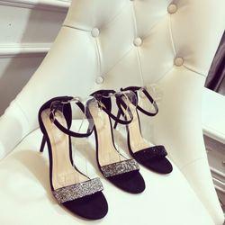 Giày sandal cao gót đá bản ngang sang chảnh giá sỉ