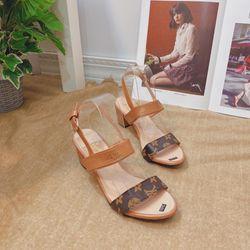 Giày sandal bảng da gót cao 5f giá sỉ