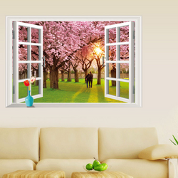 Decal dán tường cửa sổ - AY9234 giá sỉ