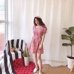 Đầm babydoll hotgirl tay bồng M139 giá sỉ