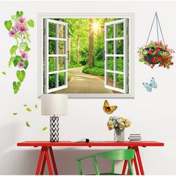 Decal dán tường cửa sổ và giỏ hoa - DXL1141 giá sỉ