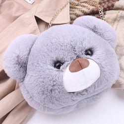 Túi đeo hình gấu bông siêu dễ thương kiêm ba lô long mềm mượt 105