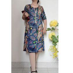 Đầm Suông Tay Lửng - ĐỦ SIZE 48KG - 85KG giá sỉ