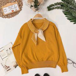 Áo len nơ Chất len kim mịn đẹp phối nơ bi mix màu giá sỉ, giá bán buôn