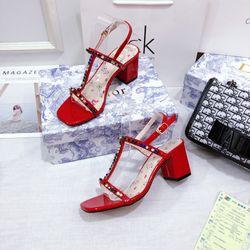 Giày sandal gót vuông 5f đính đá giá sỉ, giá bán buôn