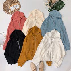 Áo khoác hoodie trơn màu giá sỉ