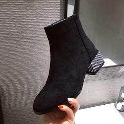 Giày boot nữ đế bọc đá cao cấp giá sỉ