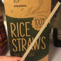 ống hút gạo Rice Straws màu trắng giá sỉ, giá bán buôn