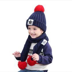 Bộ khăn mũ hình sao trẻ embé 3-10tMTQAE5E7AD0 giá sỉ