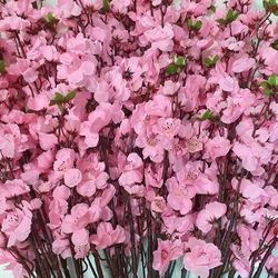 Hoa giả - Cành đào lụa cao cấp