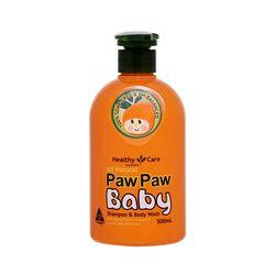 Gội tắm 2 trong 1 cho trẻ em Healthy Care Paw Paw Baby Shampoo Body Wash 500ml giá sỉ