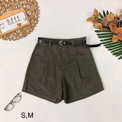 Quần short lưng cao kèm belt Short jean nhung trơn dày đẹp giá sỉ, giá bán buôn
