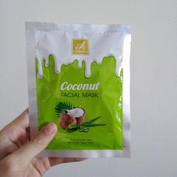 Hộp Mặt nạ Dừa coconut facial mask dưỡng da trắng sáng Hộp 6 gói giá sỉ