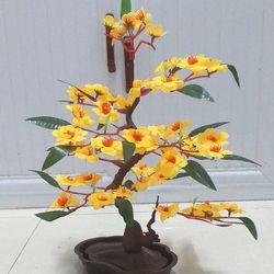 Hoa giả - Cây mai giả trang trí