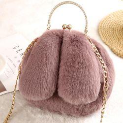 Túi đeo chéo nữ mini hình tai thỏ siêu dễ thương long mềm mượt 106 giá sỉ