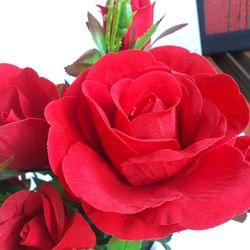 Hoa giả - Hoa hồng nhung cao cấp