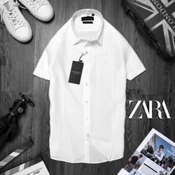 áo somi ngắn tay nam màu trắng giá sỉ