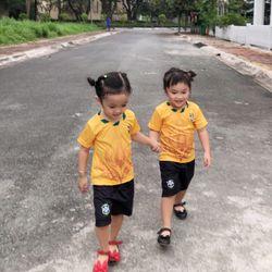 Đồ bộ thể thao cho bé MayMay Brazil in chuyển nhiệt cao cấp giá sỉ