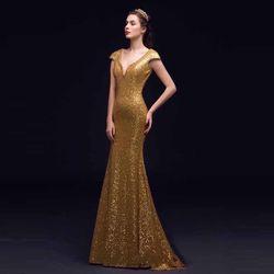 Đầm Dự Tiệc Ren Thêu Kim Sa Đính Cườm Cổ Cao Cấp giá sỉ