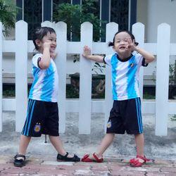 Đồ bộ thể thao cho bé MayMay Argentina in chuyển nhiệt giá sỉ