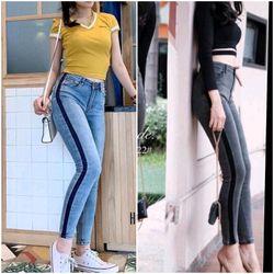 Quần Jeans Nữ body in bên hong giá sỉ