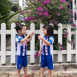 Đồ bộ thể thao cho bé MayMay áo đấu Văn Hậu in chuyển nhiệt cao cấp giá sỉ