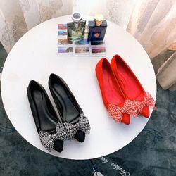Giày búp bê đính nơ siêu bền giá sỉ