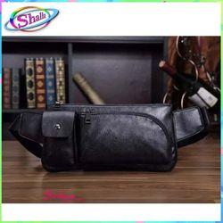 Túi đeo chéo nam đeo hông da dây kéo lượn túi hộp FR32 Shalla giá sỉ