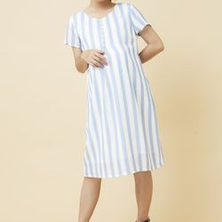Đầm bầu suông kẻ sọc 2857 giá sỉ, giá bán buôn